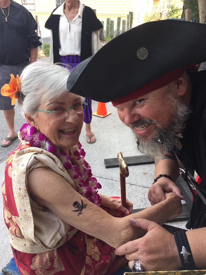 Pyrate Tattoo fer the 90th Birthday Gal