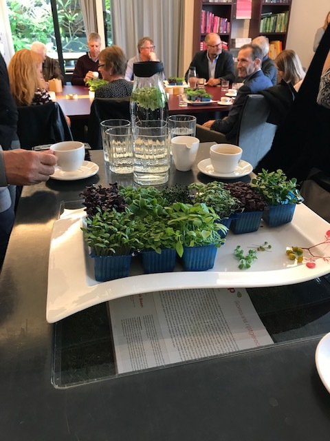 Enjoying the produce of one of Netherlands most advanced indoor growing companies Koppert Kress. They are world leaders in micro greens for the culinary market.