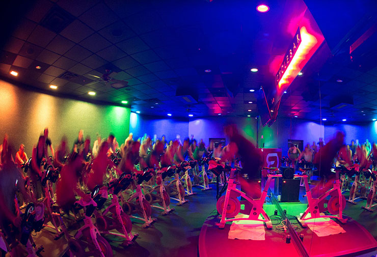 CYCLEBAR  Combine cycling, bar weights, along with pulsing club music and a party-like vibe, and you've got Cyclebar, the hottest new high-intensity spin workout that's full of great vibes and high-energy IS FEATURED ON OUR FITNESS CRAWL. AT CYCLEBAR, You'll SPIN, SMILE, SWEAT AND SHAKE YOUR BOOTY.