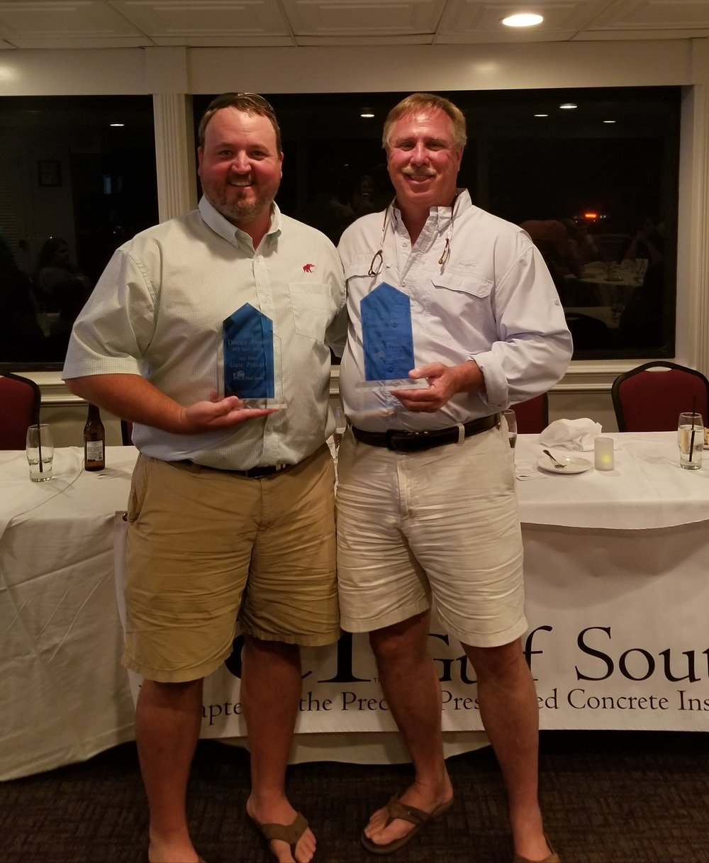 Chris and Mark from Gate Precast accepting 1st and 2nd place awards.