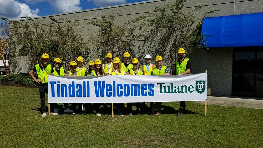 Tulane Precast Studio Students Visiting Tindall's Moss Point Plant for a Tour
