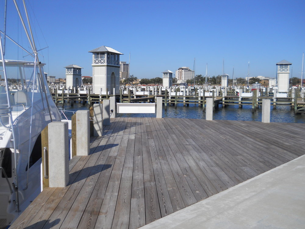 Featured Project - After Hurricane Katrina, PCI certified Gulf Coast Prestress replaced all timber piles with concrete piles for the Bert Jones Yacht Basin.