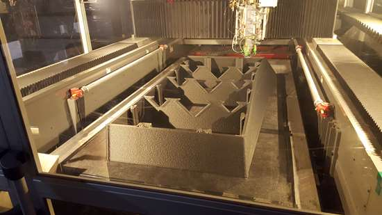 3-D printing of precast in action. Photo via  AES.