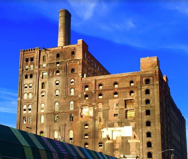 Old site of the Domino Sugar Refinery project in Brooklyn, NY. Photo via the  Brooklyn Daily Eagle.