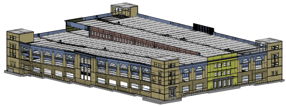 building modeled in revit using edge^r