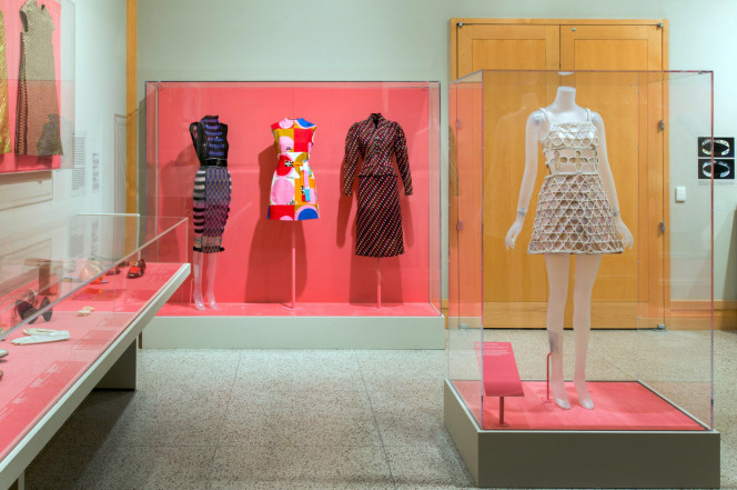 Installation view of  The Secret Life of Textiles: Synthetic Materials,  Metropolitan Museum of Art, 2017.