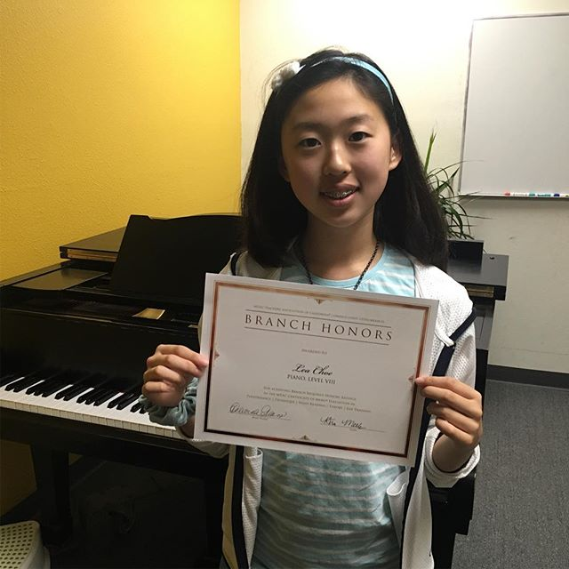 Congratulations to Lea for receiving branch Honors for Certificate of Merit! You must pass the performance & theory portion of the CM test with high scores to receive this award. Great job!