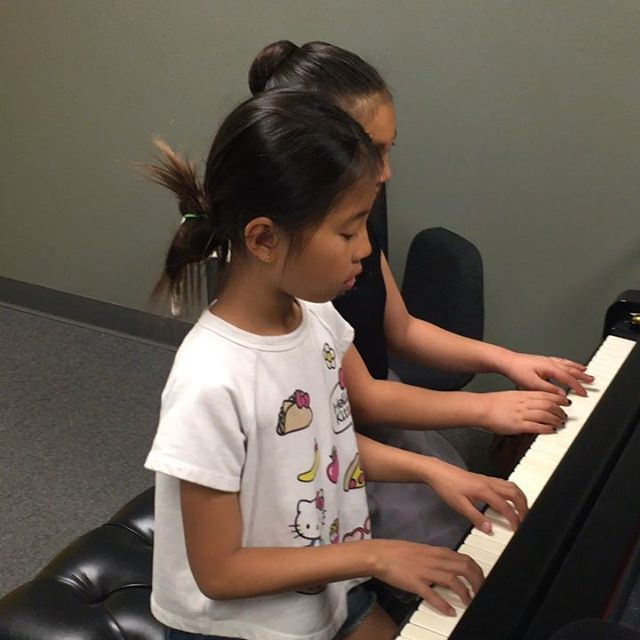 Spring Recital this Saturday 4/20! Looking forward to an afternoon filled with music. Here we see Naomi and Emma rehearsing their duet for the big day!