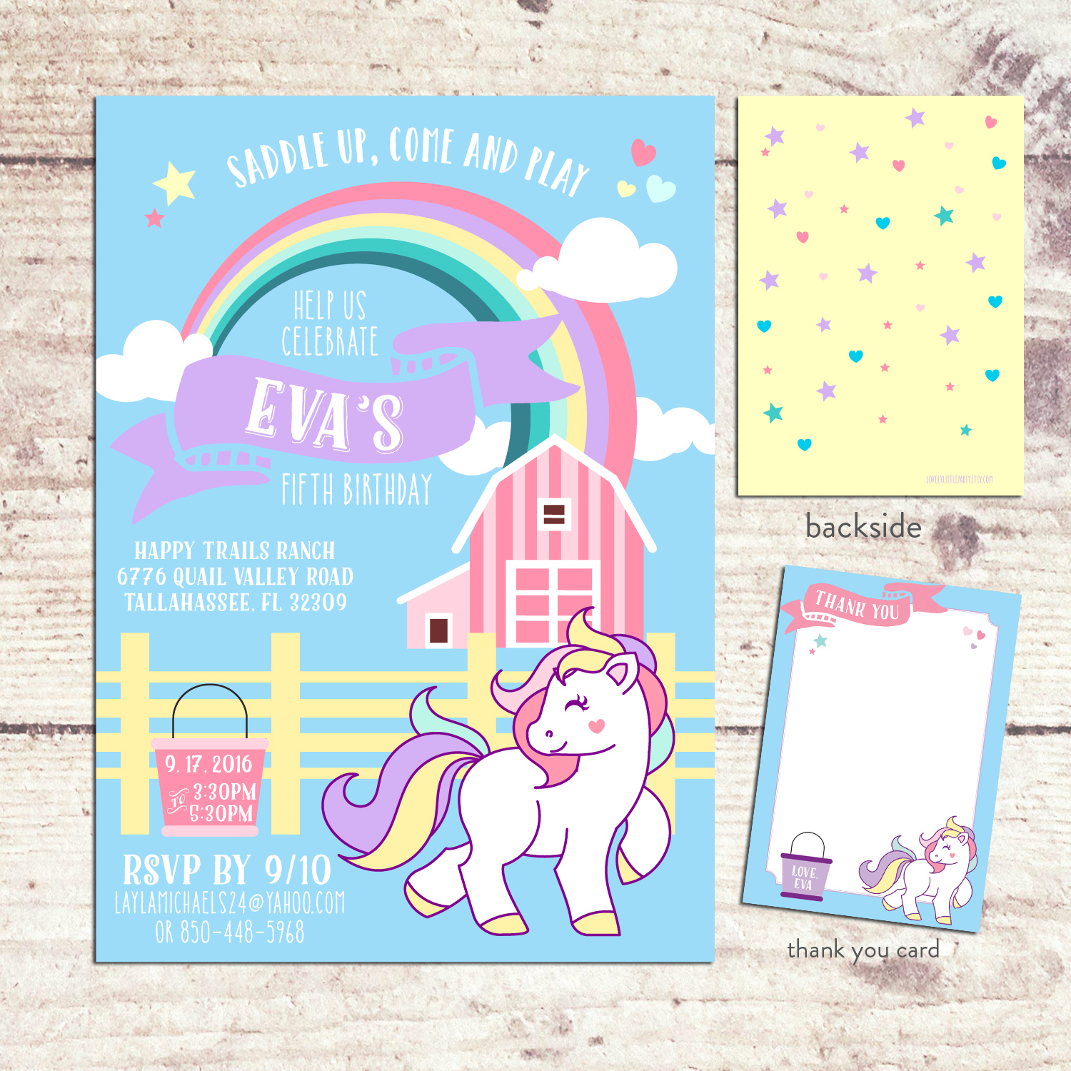 Horse Themed Birthday Invitation Horse Barn Invitation