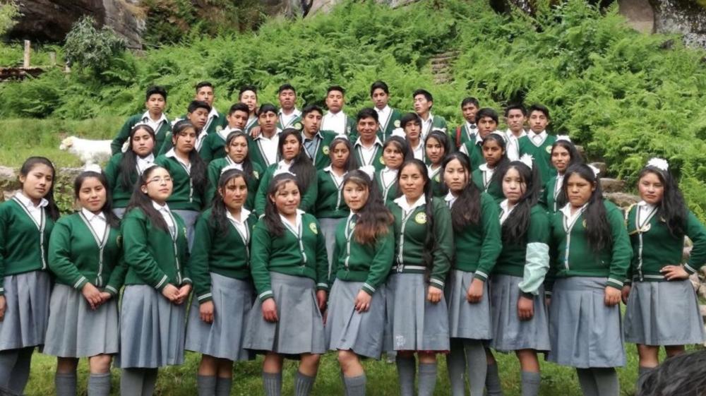 La promoción 2017 se graduó del colegio secundario de Ccorca.