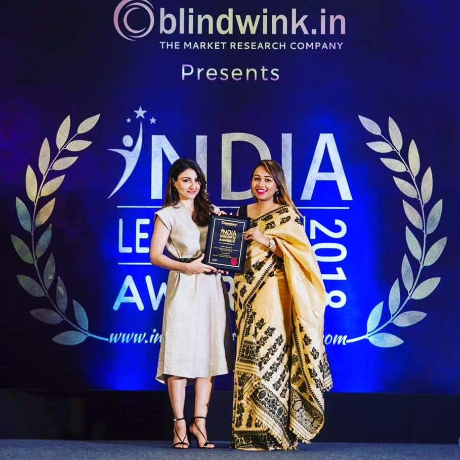 INDIA LEADERSHIP AWARDS 2018.                      Young female entreprenuer of northeast in interior designing