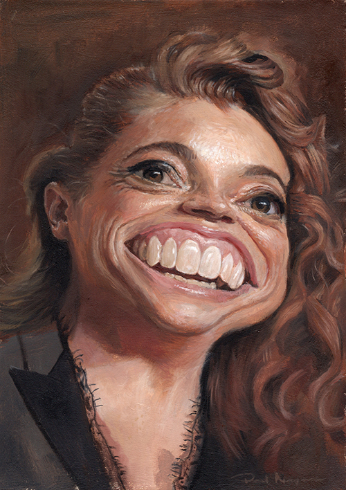 """""""Michelle Wolf""""  £500  Oil on board 148mm x 210mm (click image) Unframed Glazed with Retouch Varnish.  FREE SHIPPING WORLDWIDE"""