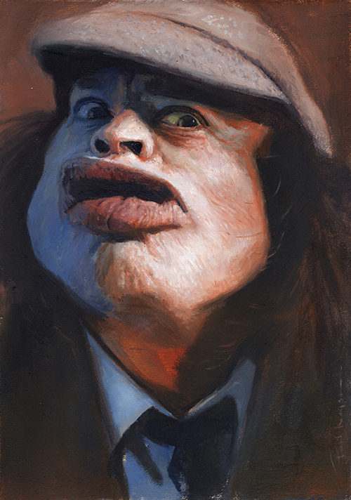 """""""Angus""""  £500  Oil on board 148mm x 210mm (click image) Unframed Glazed with Retouch Varnish.  FREE SHIPPING WORLDWIDE"""