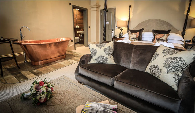 Kings Head   Cirencester, 2014.  Elegant and cosy rooms for a boutique hotel