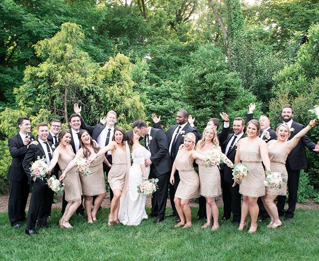 Happy May!! We are just as excited as this bridal party because wedding season is upon us!! Bring on the sparkly dresses, garden cocktail hours, and beautiful couples! We can't wait!! #thebarnatspringhouse pc: @ashleym_brown . . . #wedding #kentuckywedding #kentucky #sharethelex #lovelexington #kentuckybarn #kentuckyvenue #kentuckybride #mykentuckybride #mykentucky #mykentuckyhome #kentuckywedding #kentuckyweddings