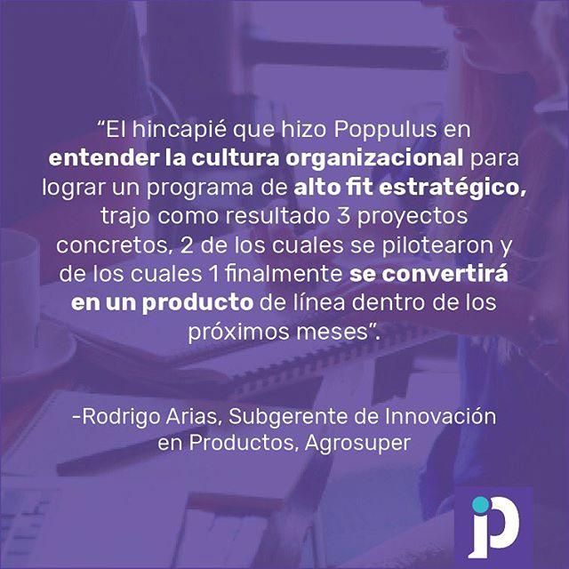 El proyecto Catapulta, que desarrollamos para Agrosuper, consistió en la creación de un programa de aceleración de innovación en productos con impacto real. Hoy las empresas están tomando conciencia de la importancia de estar al día, y en constante revisión y cambio. ¿Y tú qué esperas para subirte a la ola de la innovación?  #poppulus #innovacion #innovation #servicedesign #product #disenodeservicio #diseno #process #proceso #aceleracion #acceleration #design #agrosuper #pollo #idea