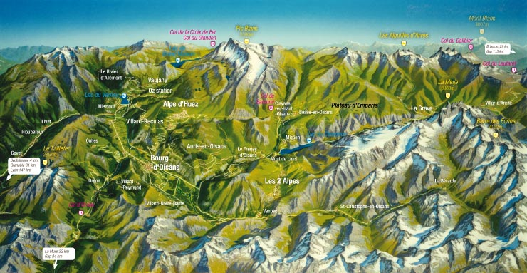 Map from BikeOisans.com