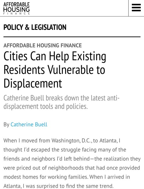 Cities Can Help Existing Residents Vulnerable to Displacement - Continue reading here.