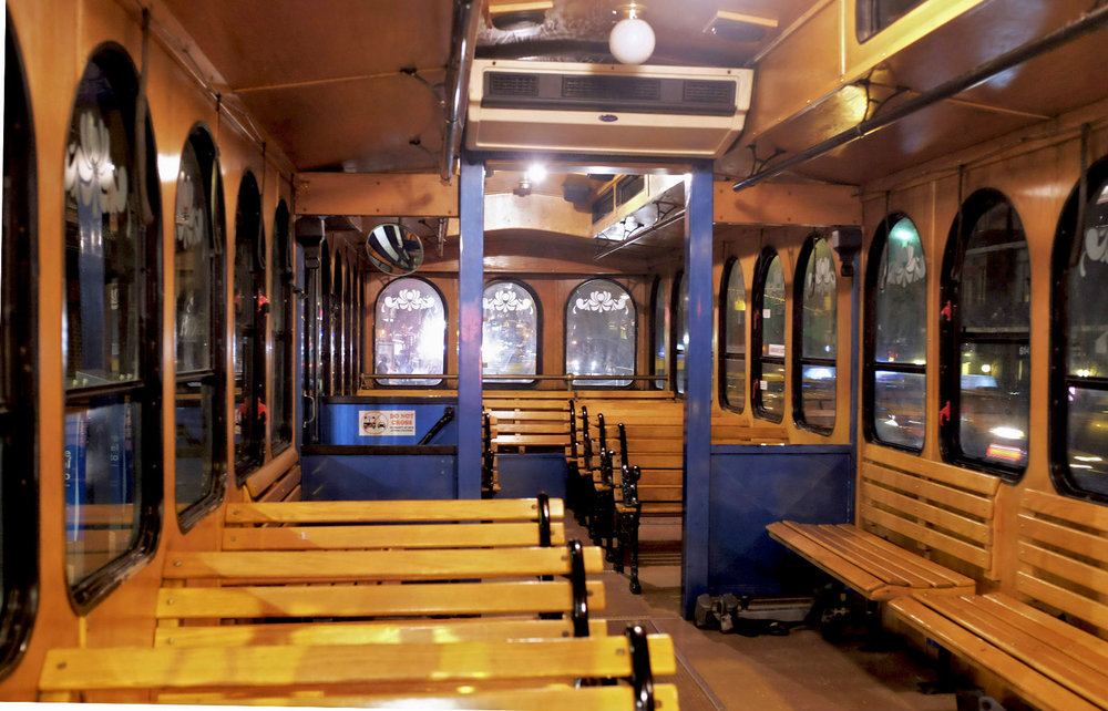 Interior NYC Trolley Shuttle Limo