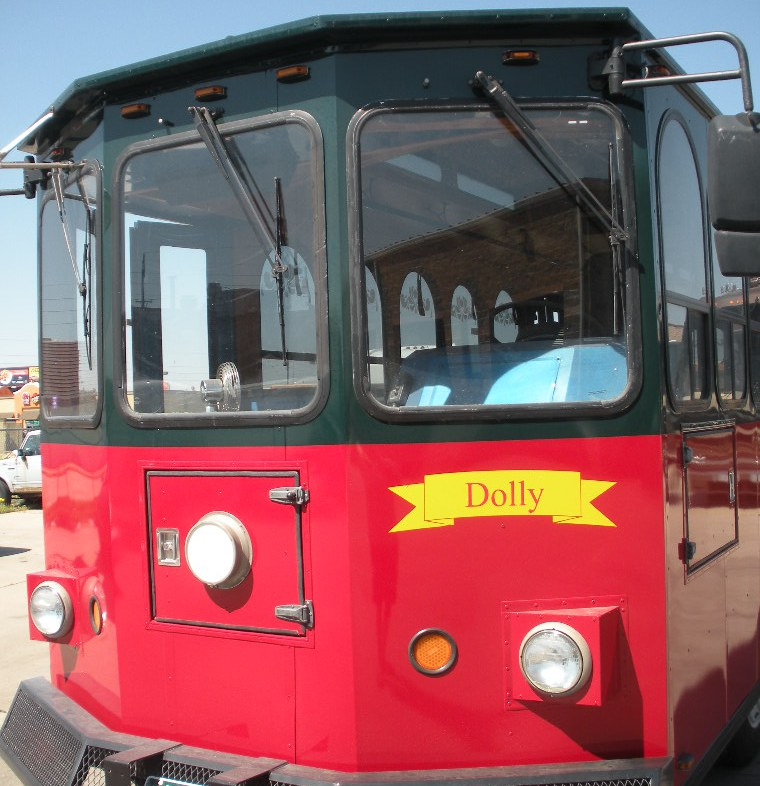 Dolly front view trolley rental