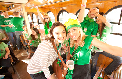 NYC Party Bus on St. Patty's