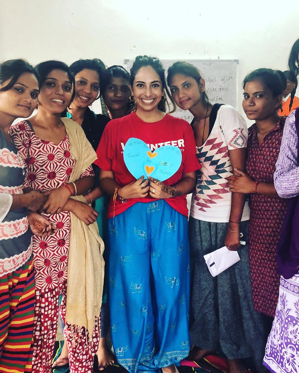 Volunteering at a women empowerement program - Jaipur
