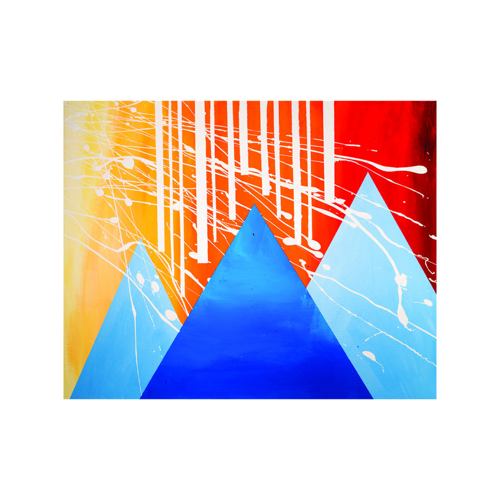 Sunrise Mountains  16x20 acrylic on canvas