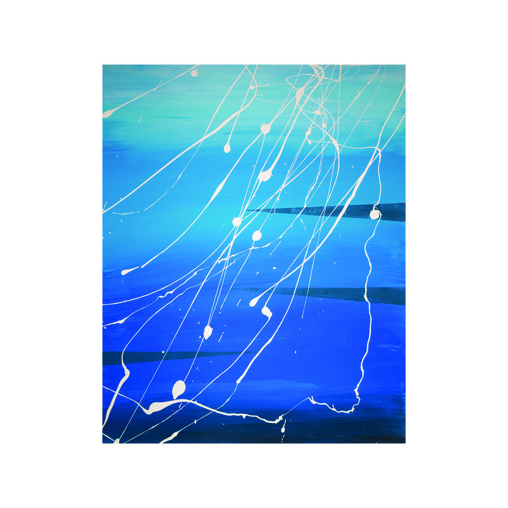 Undersea  16x20 acrylic on canvas