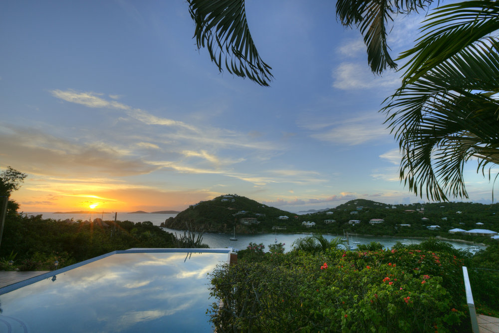 Another St. John sunset over the big pool