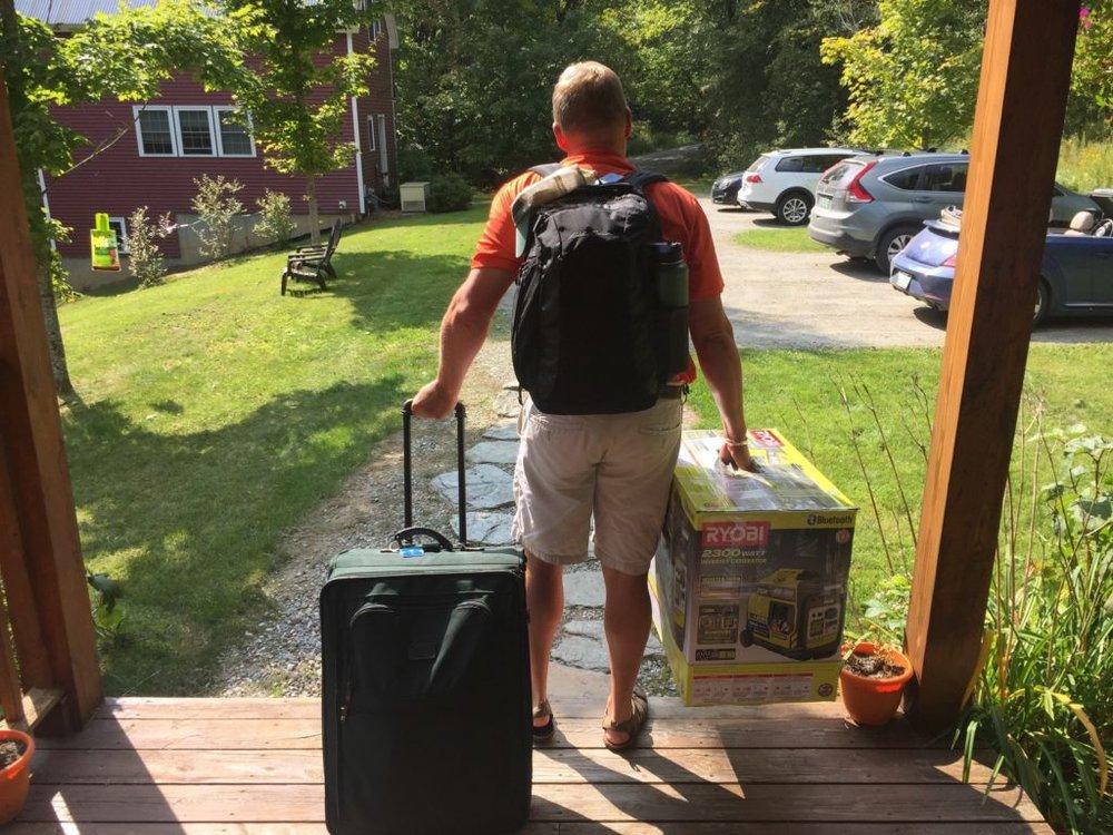 Steve Butcher loaded for hurricane relief