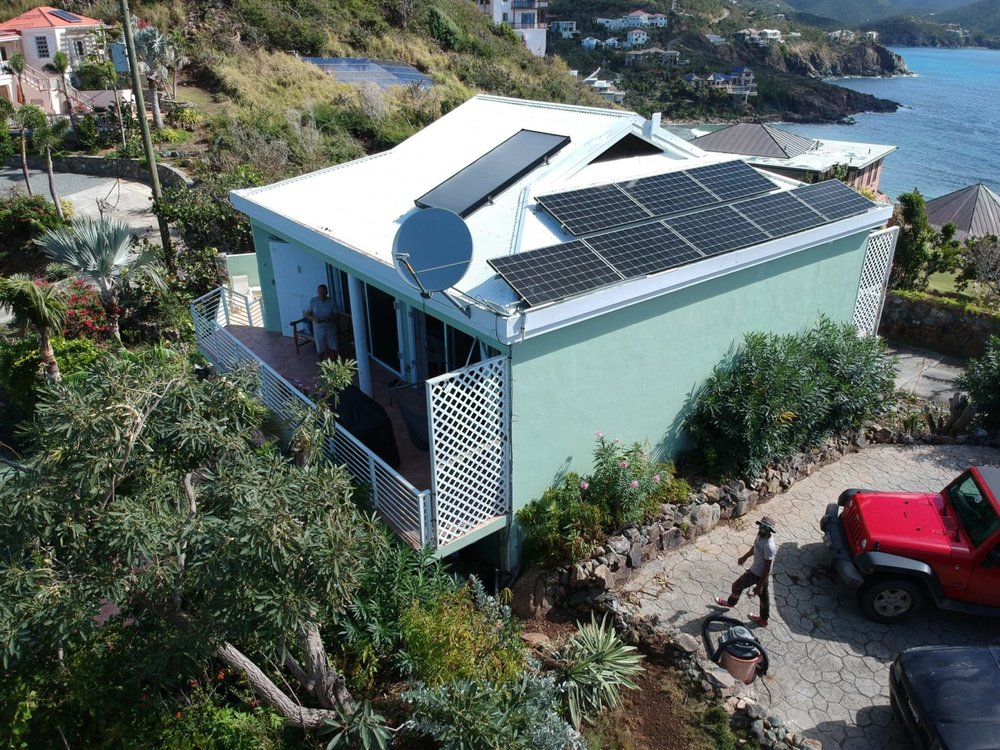 Satellite Internet, Solar Hot Water, and Solar Photovoltaic on the Guest House