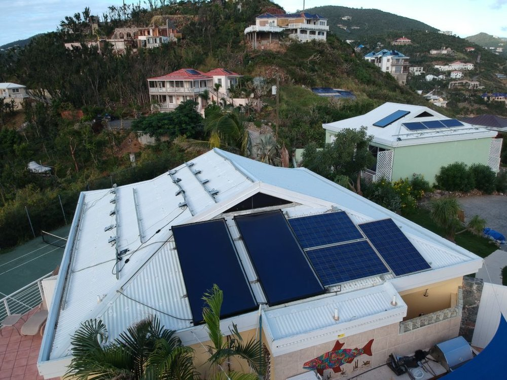 New solar Hot water panels on our St. John villa by Island Solar VI