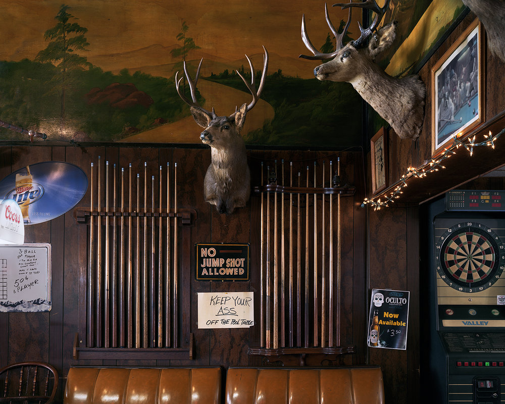 Above the Pool Table at Bux's Saloon, Challis, Idaho, 2016