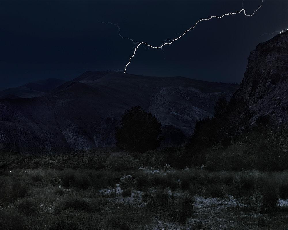 Lightning over Joe Jump Basin, Custer County, Idaho, 2017