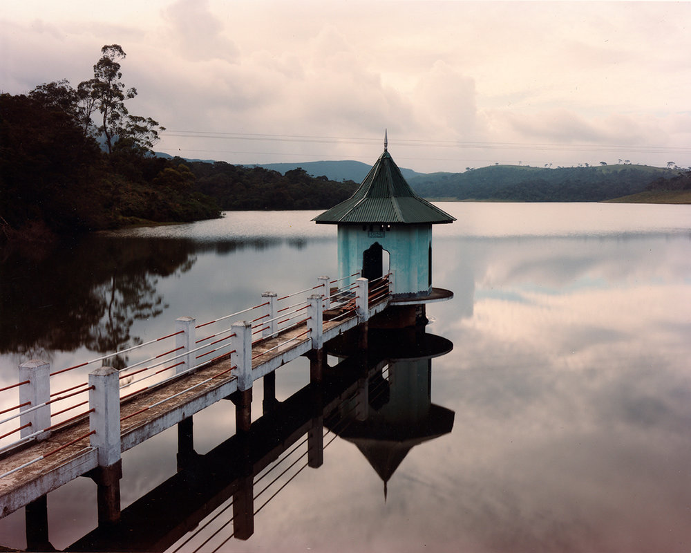 Reservoir and British-built gatehouse, near Nuwara Eliya, Sri Lanka, 1993