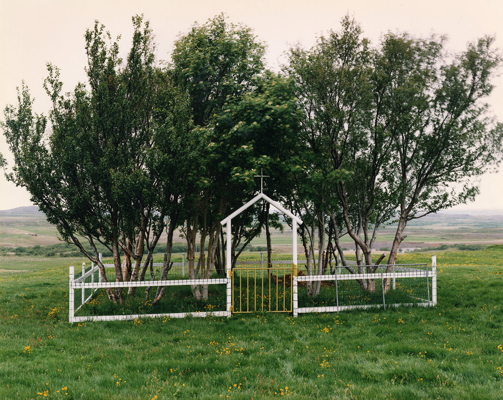 Cemetery in deforested landscape, Sandfell, Iceland, 1987