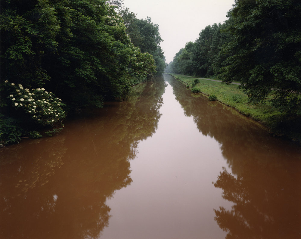 Drinking water flowing toward northern New Jersey via the Delaware and Raritan feeder canal, Titusville, New Jersey, 1996