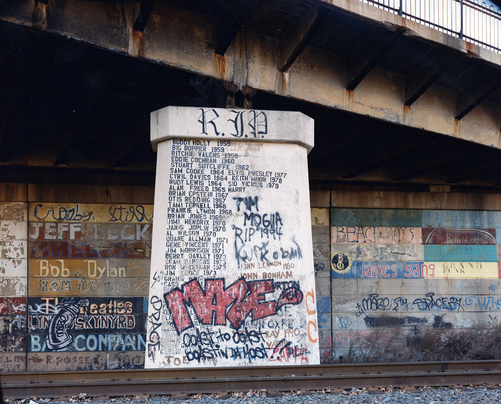 Pier under an overpass, Sewaren, New Jersey, 1997