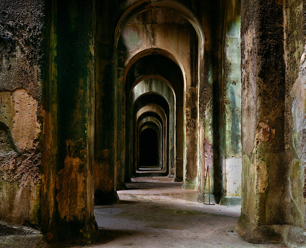 Piscina Mirabile, underground reservoir which supplied the Roman fleet at Misena, Bacoli, Italy, 1994