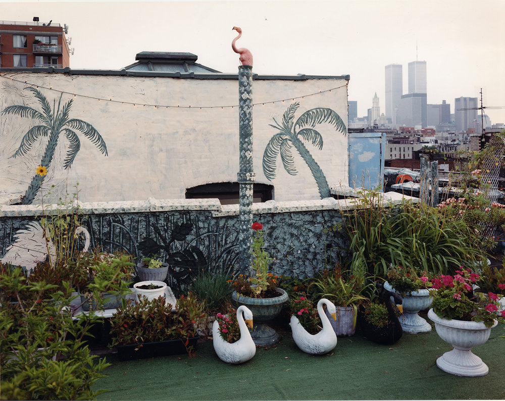 Rooftop garden, East Village, New York, 1997