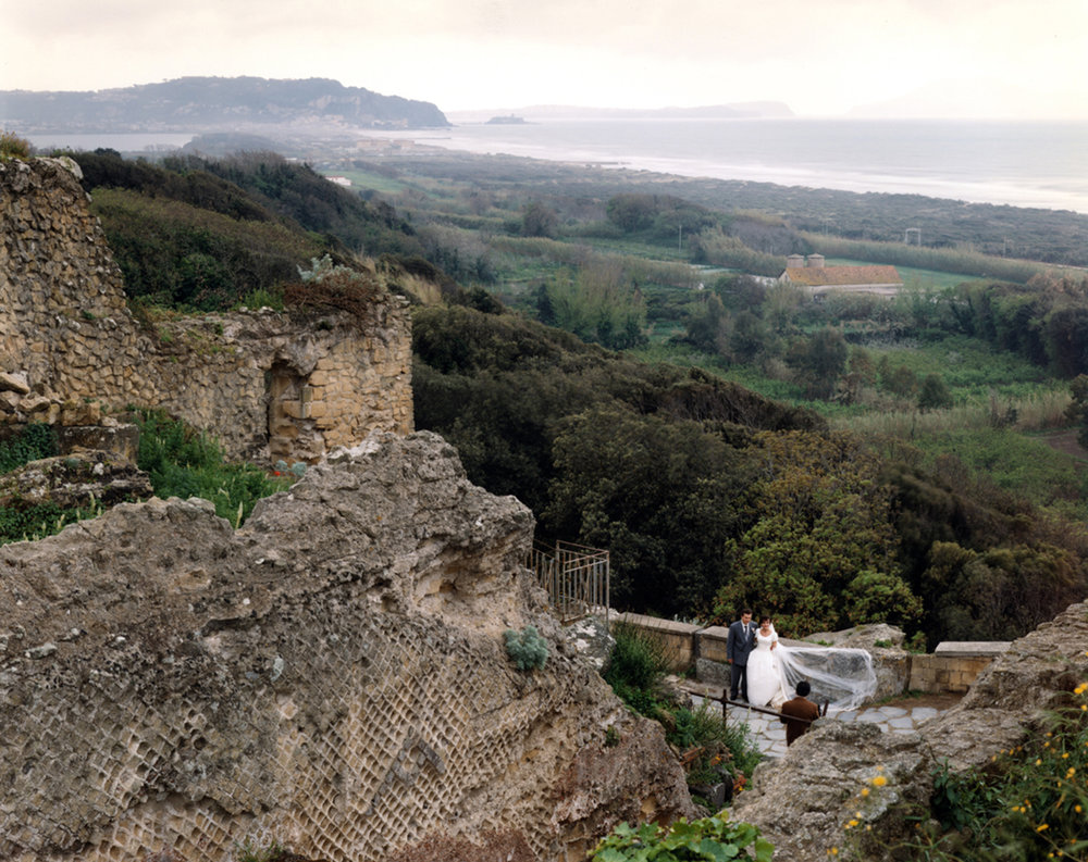 Wedding photograph near a Roman temple at Cumae,, Campi Flegrei (Fiery Fields), Italy, 1994