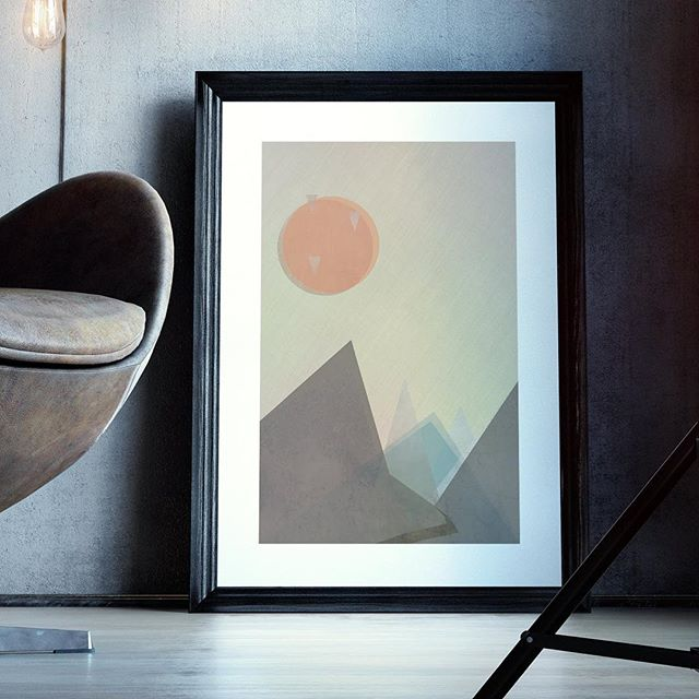 Glen . Scandinavian style illustration inspired by the glens of Scotland . If you would like to purchase this printed, drop me a DM - available in A2, A3 and A4 . . . #wallart #artprint #scandinavian #prints #geometricart #interiordesignideas #scotland #glen