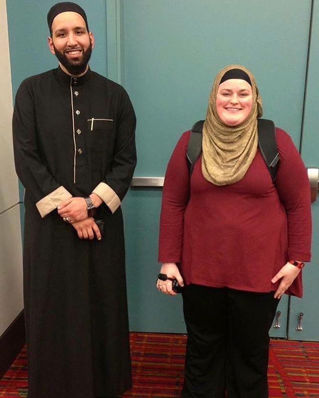 New episode up with #OmarSuleiman We task about why he became agnostic and what lead him back to Islam. Super fascinating. This photo is actually the first time we met. When I was a fresh Muslim hot out of the oven. Lol