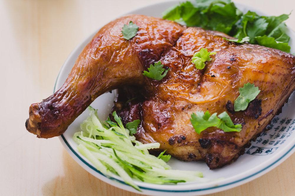 구운 양념 닭다리