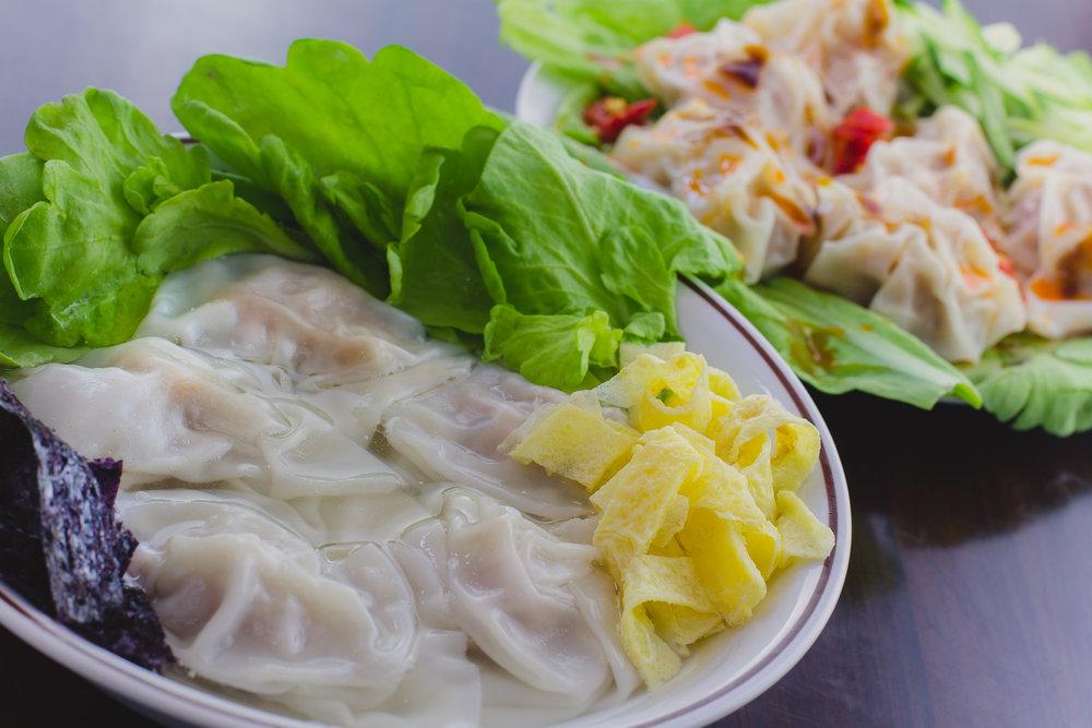 F 세트: 완탕 수프 + 사천식(매운) 완탕