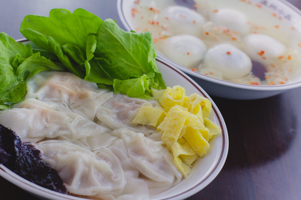 C 세트: 완탕 수프 + (계수나무꽃 참깨) 탕위안