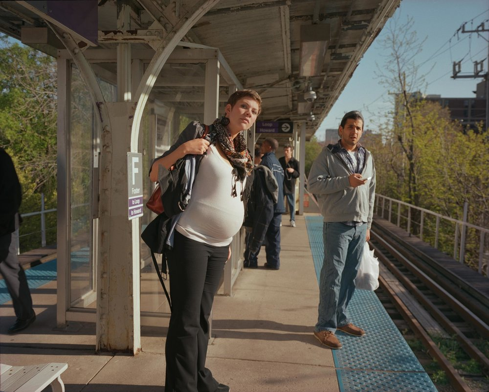 Eva, social worker, on the Purple Line - Melissa Ann Pinney, 2012, © Melissa Ann Pinney