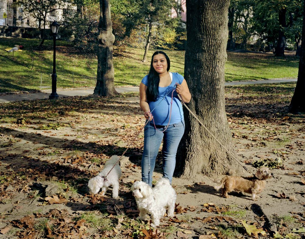 Cristal, Dog Walker - Brian Rose, 2012, © Brian Rose