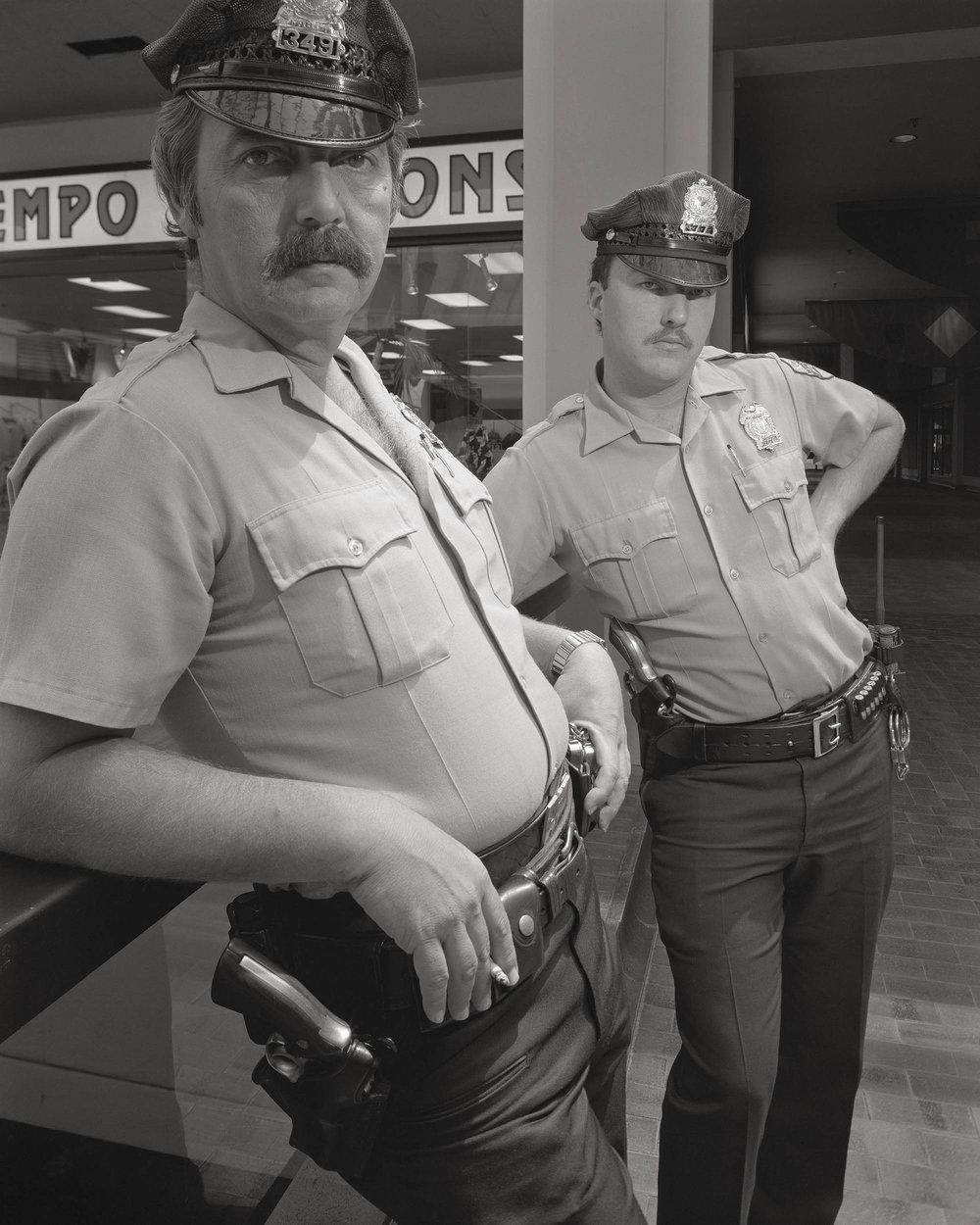 "Galleria Police, Saturday Morning - 8""x 10"" large-format, 1986, © Stephen DiRado"