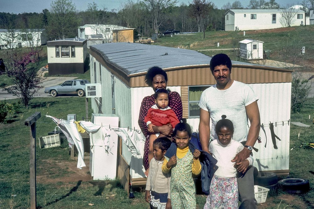 From a story on the mobile homes across America; For GEO - 35mm color slide, 1981, © Geoffrey Biddle